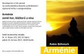 "Přednáška - Robin Böhnisch: ""ARMÉNIE – země hor, klášterů a vína"""